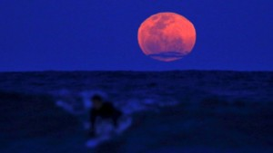 Super Surfer Blood Moon of September 2015 - Epic Sunset Photography
